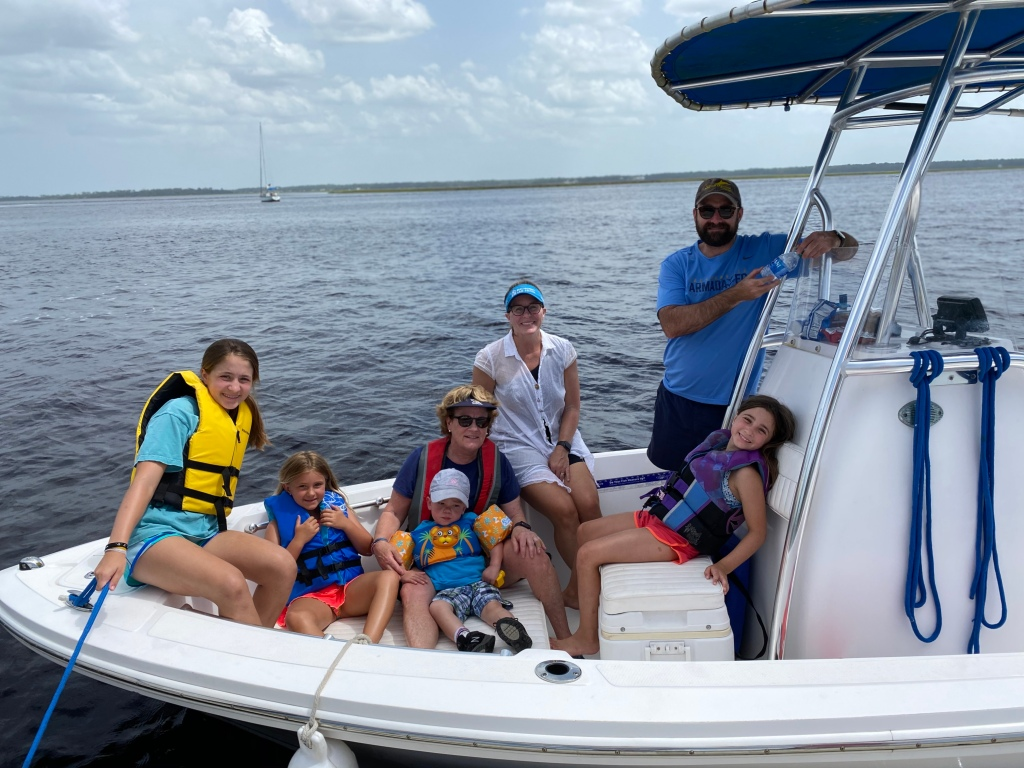 Fun times boating in St. Marys, GA the weekend of celebrating Virginia's 8th birthday.